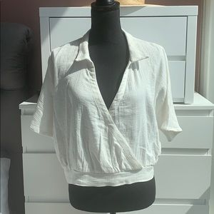 Worn 1x Cotton V-neck urban outfitters shirt